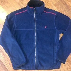 Nautica boys 10/12 fleece zip-up
